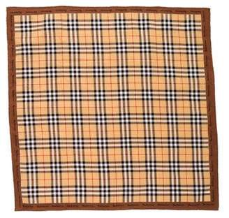 Burberry Check Printed Pocket Square