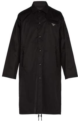 Prada Long Line Nylon Coach Jacket - Mens - Black