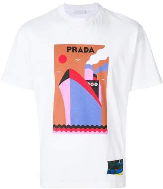 Prada boat print T-shirt