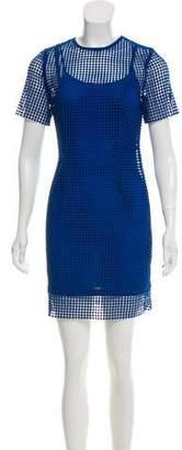 Diane von Furstenberg Short Sleeve Mini Dress