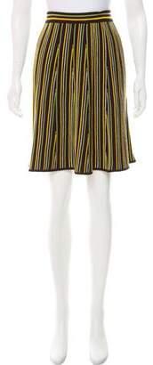Les Copains Stripe A-Line Skirt