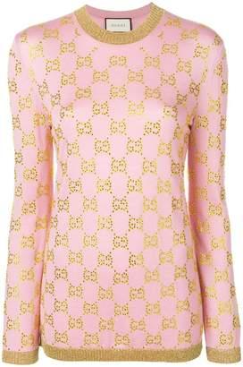 Gucci embellished GG motif jumper