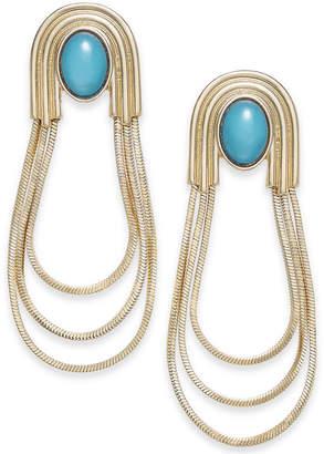 Thalia Sodi Gold-Tone Stone & Triple-Loop Drop Earrings, Created for Macy's