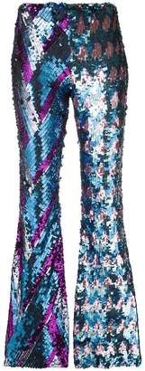 Circus Hotel embellished flared trousers