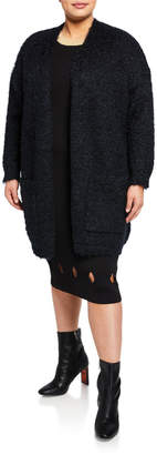 Rachel Roy Amara Fuzzy Pocketed Cardigan, Plus Size
