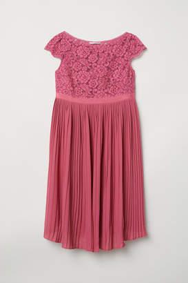 H&M MAMA Pleated Dress - Pink