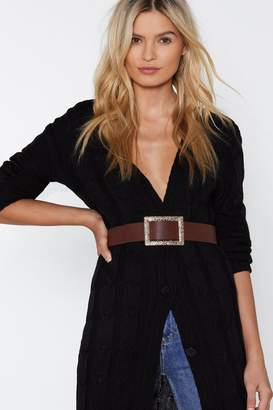 Nasty Gal Times Square Faux Leather Belt