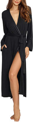 Dreamgirl Womens Jersey Robe Long Sleeve Long Length