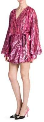 ATTICO Sequin Robe Mini Dress