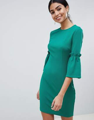 AX Paris Long Sleeve Shift Dress With Tie Detail