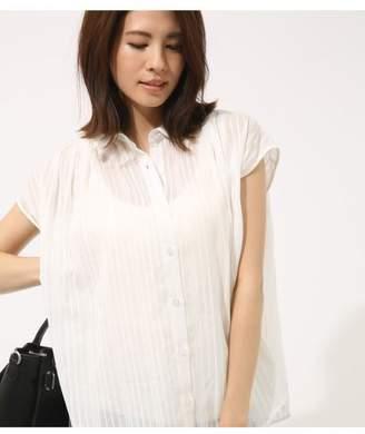 AZUL by moussy (アズール バイ マウジー) - AZUL BY MOUSSY 刺繍ストライプノースリシャツ