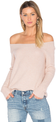 Inhabit Parisienne Off Shoulder Sweater $341 thestylecure.com