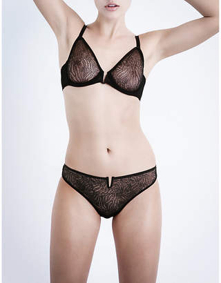 Implicite Pulsion stretch-tulle underwired plunge bra