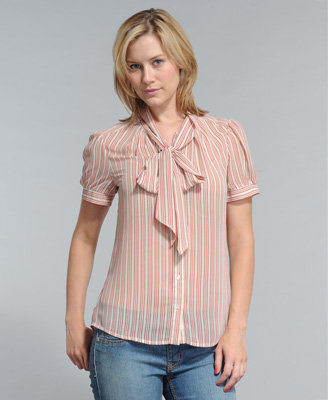 Connie Striped Chiffon Top
