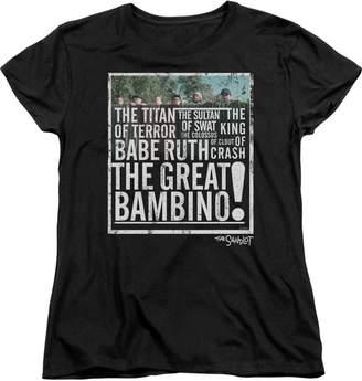 The Great Sandlot Bambino Womens Short Sleeve Shirt Md