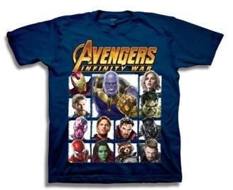 Marvel Avengers Infinity War Boys' Superhero Character Panels with Thanos Short Sleeve Graphic T-Shirt