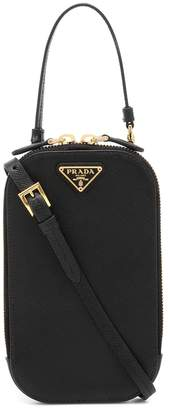 Prada Mini saffiano leather crossbody bag