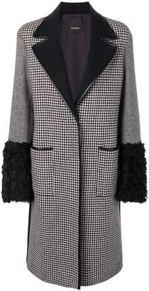 Pinko patchwork wool coat