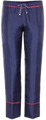 Moncler Cropped silk trousers