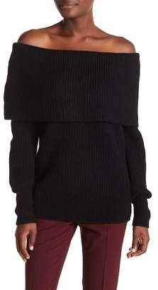 Theory Wool Blend Off-the-Shoulder Sweater
