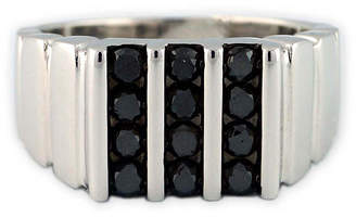 Black Diamond FINE JEWELRY Mens Color Enhanced Sterling Silver Ring