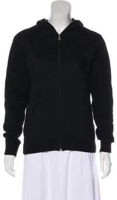 Versace Casual Wool-Blend Hooded Jacket