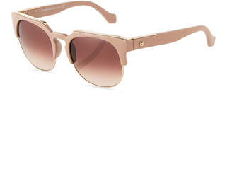 Balenciaga Injected Semi-Rimless Square Sunglasses