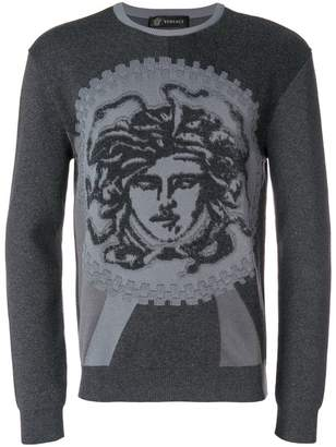 Versace Medusa print jumper