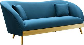 Chloé Tov Spotted Blue Velvet Sofa