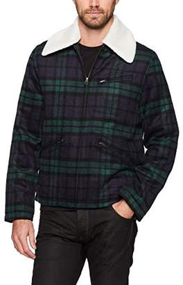 French Connection Men's Workwear Washed Wool Check Jacket