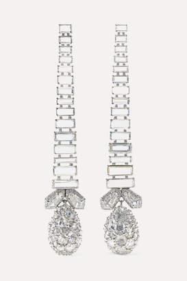 Bina Goenka - 18-karat White Gold And Platinum Diamond Earrings