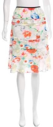 Celine Floral Printed Knee-Length Skirt w/ Tags