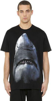 Cuban Fit Shark Print Jersey T-Shirt $550 thestylecure.com