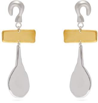 Sophia Kokosalaki Hook & Drop Sterling Silver Earrings - Womens - Gold
