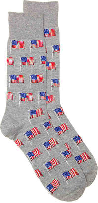 Hot Sox Flag Crew Socks - Men's