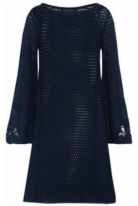 Vanessa Seward Flared Crochet-Knit Cotton Dress