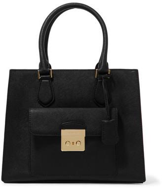 MICHAEL Michael Kors - Bridgette Medium Textured-leather Tote - Black $360 thestylecure.com