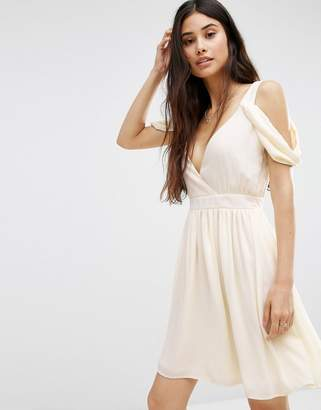 Oh My Love Cowl Shoulder Mini Dress