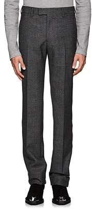 Calvin Klein Men's Striped Plaid Wool Trousers