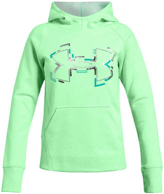 Under Armour Big Girls Threadborne Logo-Print Hoodie