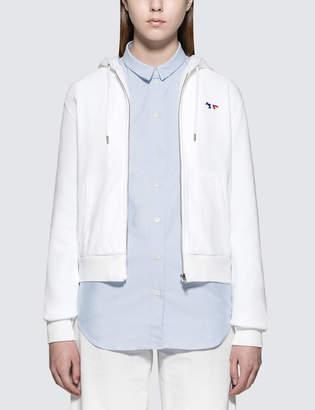 MAISON KITSUNÉ Tricolor Fox Patch Zip Hood Jacket
