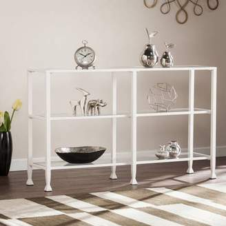 Southern Enterprises Jumpluff Metal/Glass 3-Tier Console Table/Media Stand