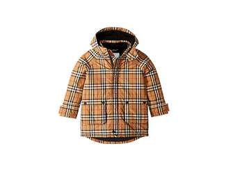 Burberry Chrissy Down Check Puffer (Little Kids/Big Kids)