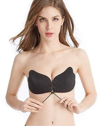 2149fe4416fca ONLINE Women s Strapless Backless Invisible Reusable Sticky Push Up Bras