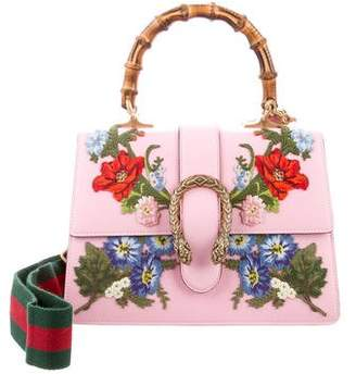 Gucci 2018 Dionysus Small Embroidered Floral Satchel