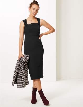 Marks and Spencer Square Neck Bodycon Midi Dress