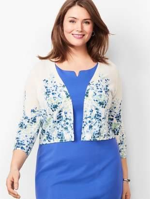 Talbots Plus Size Classic Dress Shrug - Floral