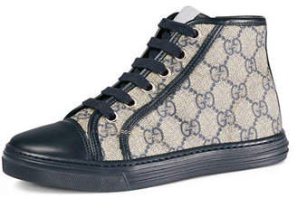 Gucci GG Supreme Canvas High-Top Sneakers, Toddler/Youth Sizes 10.5T- 2Y