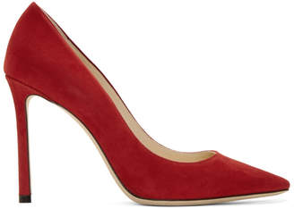 Jimmy Choo Red Suede Romy 100 Heels