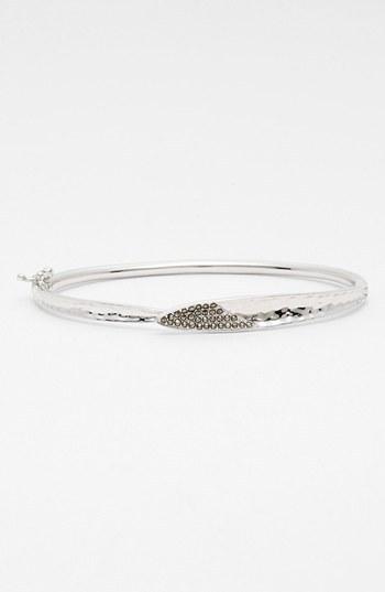 Judith Jack 'Silver Rain' Oval Hinged Bracelet (Nordstrom Exclusive)